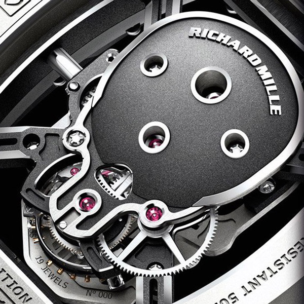 Richard Mille Tourbillon RM 052 Titanium Skull Wristwatch ...