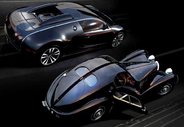 Bugatti Veyron Going Back To The Future Art Promo: Bugatti Unveils The Galibier