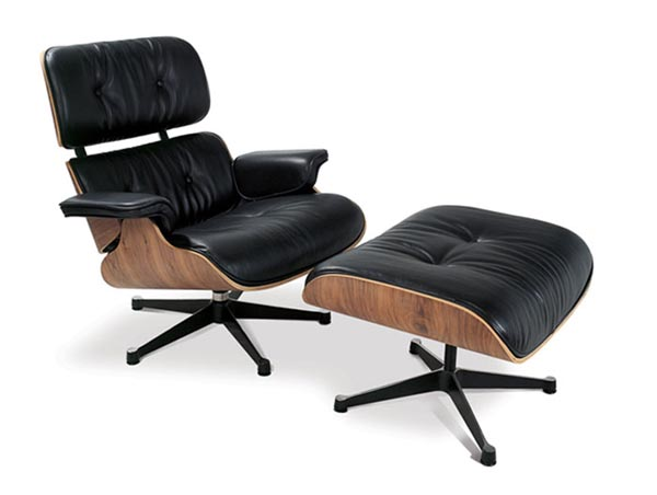 charles and ray eames debut the herman miller lounge ottoman lost in a supermarket. Black Bedroom Furniture Sets. Home Design Ideas