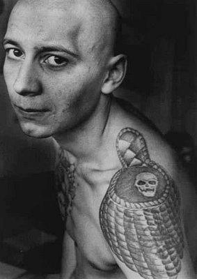 Russian prison tattoos lost in a supermarket for Russian mafia tattoos