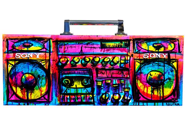 Boombox Pop Art Max Neutra & LIAS ...