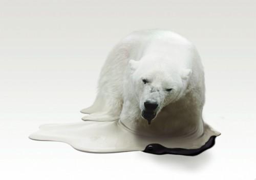 Melting Polar Bear Sculpture 1024x723 Lost In A Supermarket
