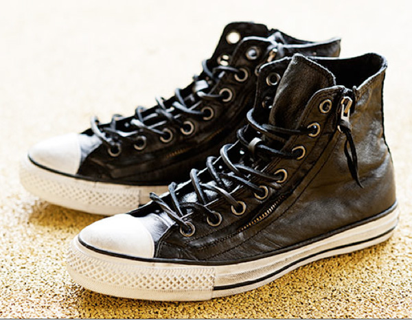629aec746e03 John Varvatos Converse Chuck Taylor All Stars Double Zip Hi Sneakers.  Premium leather high-tops with double side zippers for easy access.  American ...
