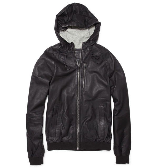 If you're looking for a casual yet still sharp urban jacket, this soft  lightweight washed black leather coat from Marc by Marc Jacobs is a solid  option.
