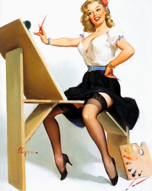 Gil_Elvgren_-_The_Right_Touch_
