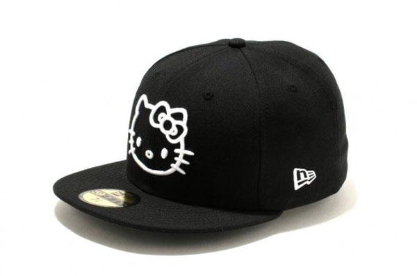 Hello Kitty New Era Hat 5950 Fifty Nine Fifty Brand New Black Kitty Face Heart