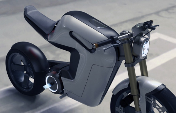 bolt concept electric motorbike lost in a supermarket. Black Bedroom Furniture Sets. Home Design Ideas
