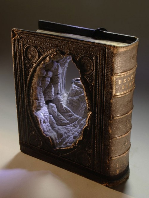 Guy Laramee Tomes - Guy Laramee Book Sculptures - Guy Laramee Book Landscapes - Landscapes Made from Tomes