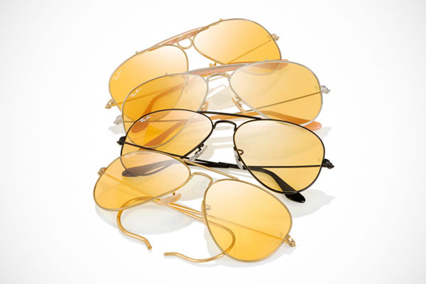 ray ban yellow lens aviator  for ray ban's 75th anniversary (ray banniversary