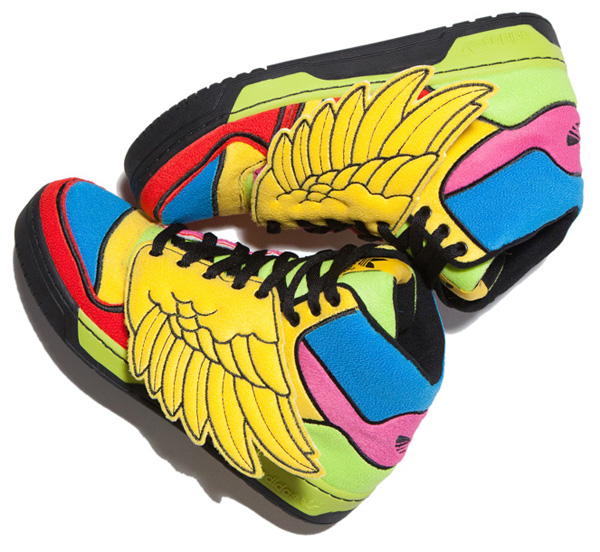 best service ea6b9 58559 Jeremy Scott dreams up a multi-colored iteration of the JS Wings for his Adidas  Originals.