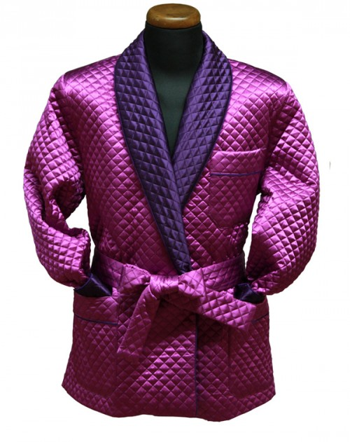 Silk Dressing Robe Purple