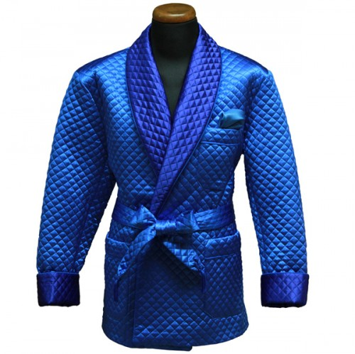 Silk Dressing Robe Blue