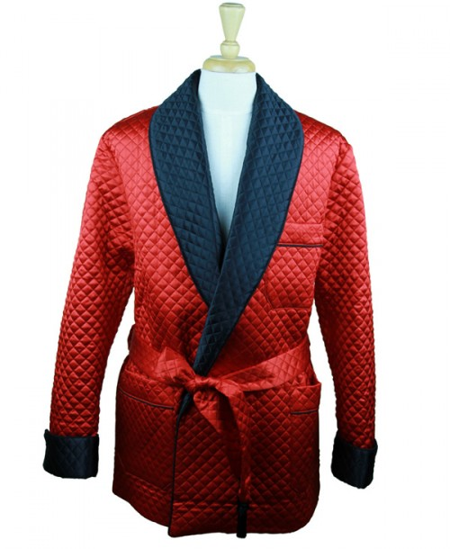 Silk Dressing Robe Red