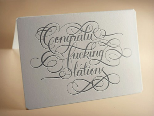 Calligraphuck Greeting Cards - Calligraphuck Profane Greeting Cards - Profane Greeting Cards - Profane Calligraphy Cards
