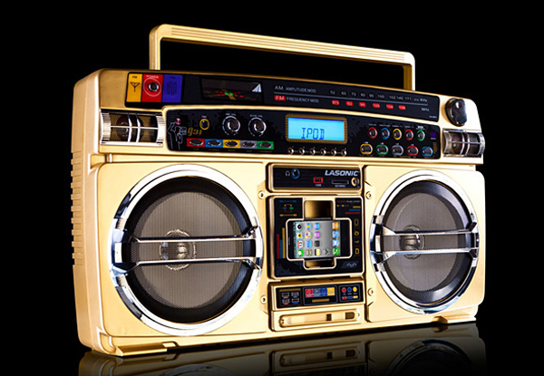 lasonic high performance gold edition bluetooth boombox lost in a supermarket. Black Bedroom Furniture Sets. Home Design Ideas