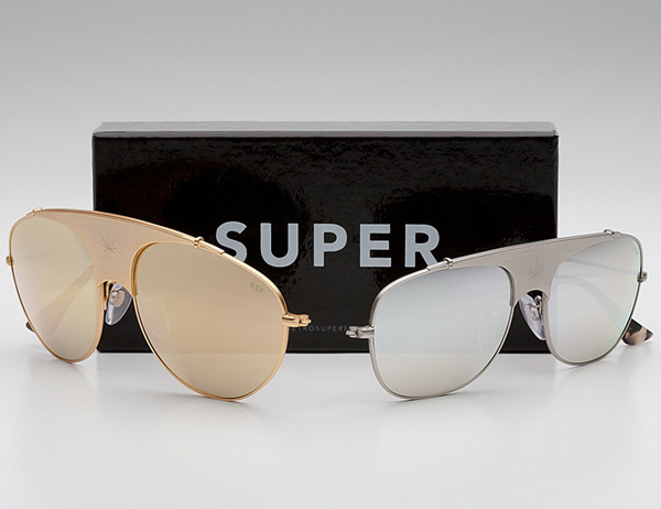 Retrosuperfuture Sunglasses  retrosuperfuture full metal gold silver aviator sunglasses