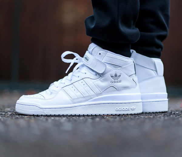 adidas high ankle shoes white